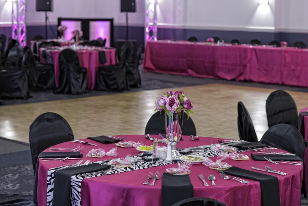 Red Oak Ballroom, San Antonio North Park. view of Red Oak Ballroom-B set for Quinceanera