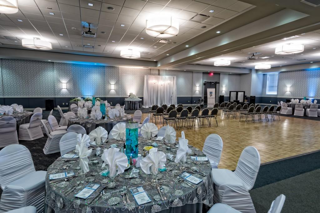 Red Oak Ballroom, San Antonio North Park. view of Red Oak Ballroom-A set for a Wedding