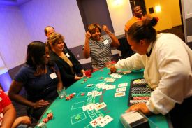 Guests enjoying Casino Night at a Holiday Party, Red Oak Ballroom, Houston, CityCentre