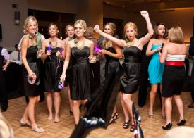 Bridesmaids Dancing at the Red Oak Ballroom in Houston, CityCentre