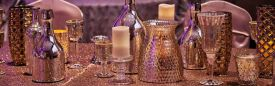 Dazzling Glassware Decor at the Red Oak Ballroom in Fort Worth, Sundance Square