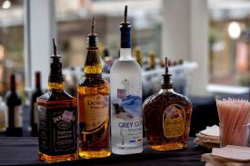 Custom hosted bar service available at the Red Oak Ballroom