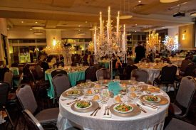 Fabulous Holiday Party setup at the Red Oak Ballroom in Houston, CityCentre