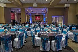Elegant Black, White and Blue themed Wedding at the Red Oak Ballroom B in Fort Worth, Sundance Square