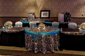 Elegant Black, White and Teal themed Wedding at the Red Oak Ballroom B in Fort Worth, Sundance Square