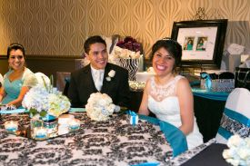 Happy Bride and Groom, Wedding at the Red Oak Ballroom B in Fort Worth, Sundance Square