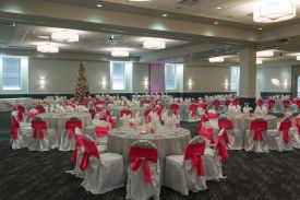 Holiday Party set in red and white, San Antonio Red Oak Ballroom B