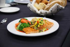 Enjoy fabulous, delicious catering at the Red Oak Ballroom