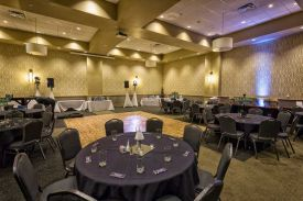 A Sweet 16 Special Celebration setup at the Red Oak Ballroom A in Fort Worth, Sundance Square