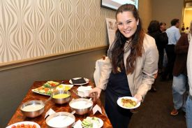 Guest enjoying appetizers, Holiday Party, Fund Raiser at Fort Worth, Sundance Square Red Oak Ballroom B