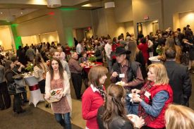 Guests enjoying a Holiday Party, Fund Raiser at Fort Worth, Sundance Square Red Oak Ballroom B