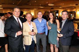 Guests enjoying a Holiday Party at Houston, CityCentre Red Oak Ballroom B