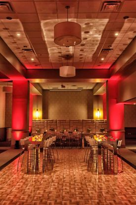 Fabulous Lounge and Cocktail Holiday Party set at the Red Oak Ballroom B in Fort Worth, Sundance Square