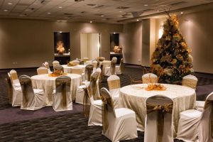 Beautiful White and Gold Holiday Party set, Houston, CityCentre