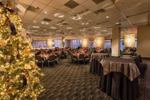 Elegant black, grey and red Holiday Party set with with fabulous view, Houston, CityCentre