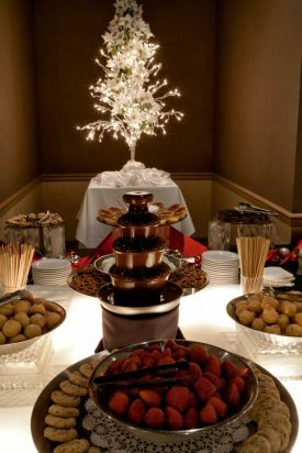 Fabulous chocolate fountain Dessert Station for Holiday Party