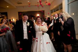 Bride and Groom Departure at the Red Oak Ballroom in Houston, CityCentre